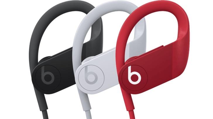 苹果 Powerbeats 4 耳机官方照提前泄露,黑白红三色