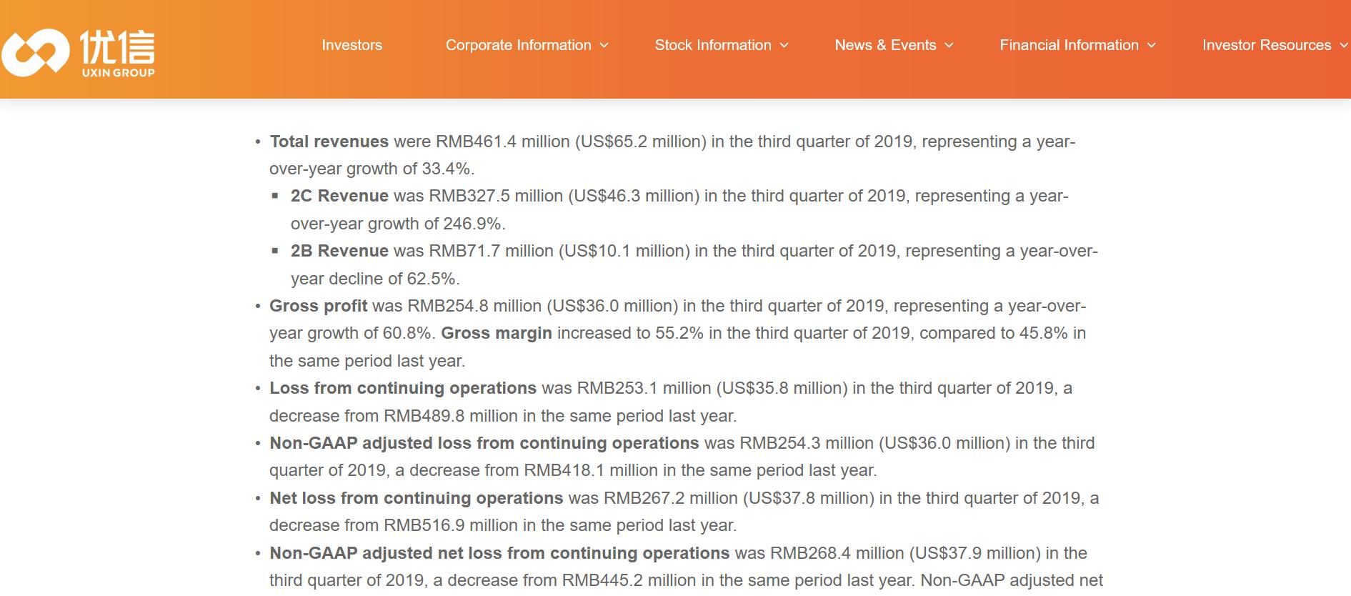 优信第三季度总营收达到4.61亿元